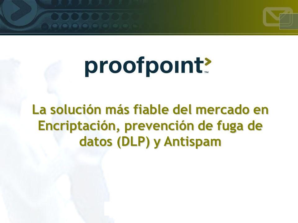 La solución más fiable del mercado en Encriptación, prevención de fuga de datos (DLP) y Antispam