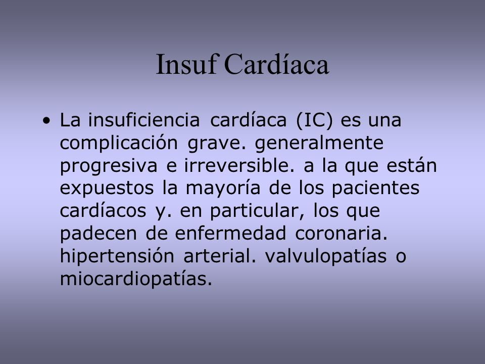 Insuf Cardíaca