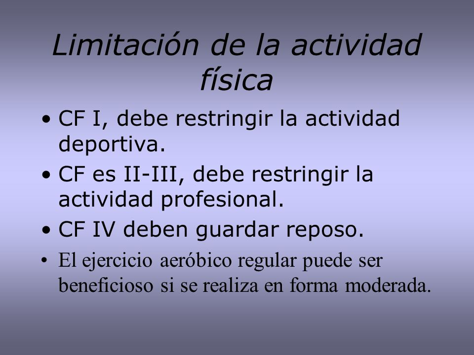 Limitación de la actividad física