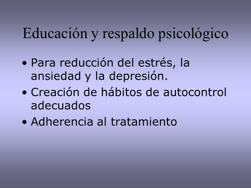Educación y respaldo psicológico