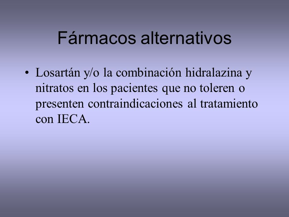 Fármacos alternativos