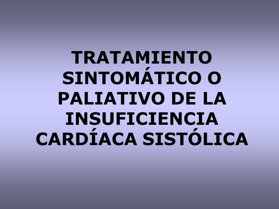 TRATAMIENTO SINTOMÁTICO O PALIATIVO DE LA INSUFICIENCIA CARDÍACA SISTÓLICA