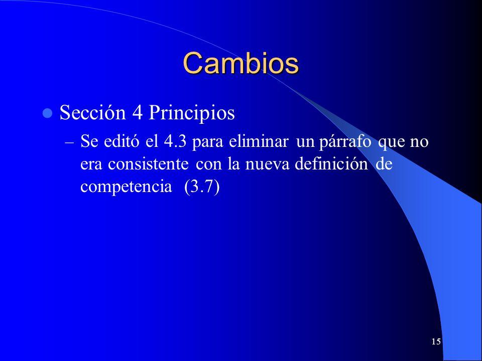 Cambios Sección 4 Principios