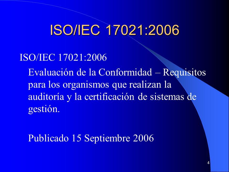 ISO/IEC 17021:2006 ISO/IEC 17021:2006.