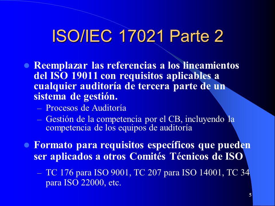 ISO/IEC 17021 Parte 2