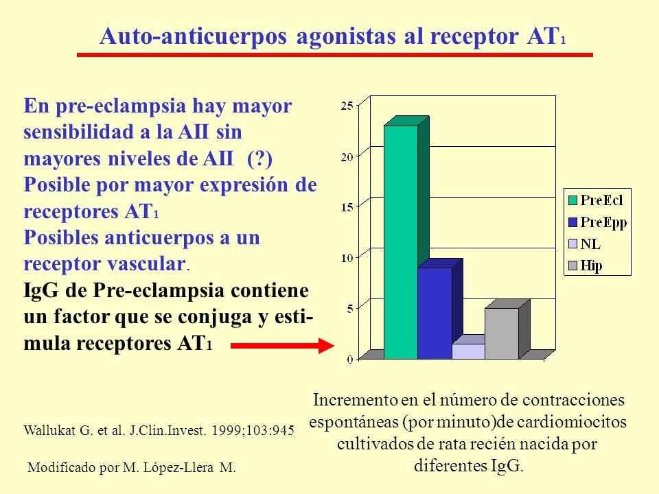 Auto-anticuerpos agonistas al receptor AT1
