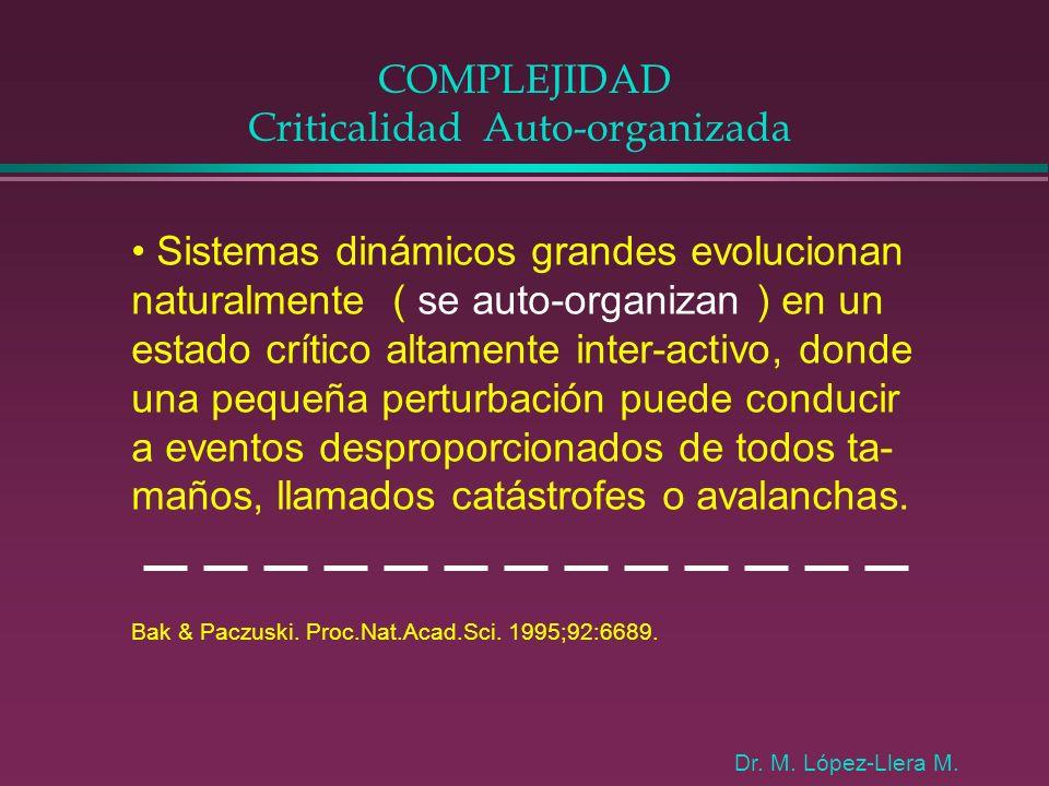 COMPLEJIDAD Criticalidad Auto-organizada