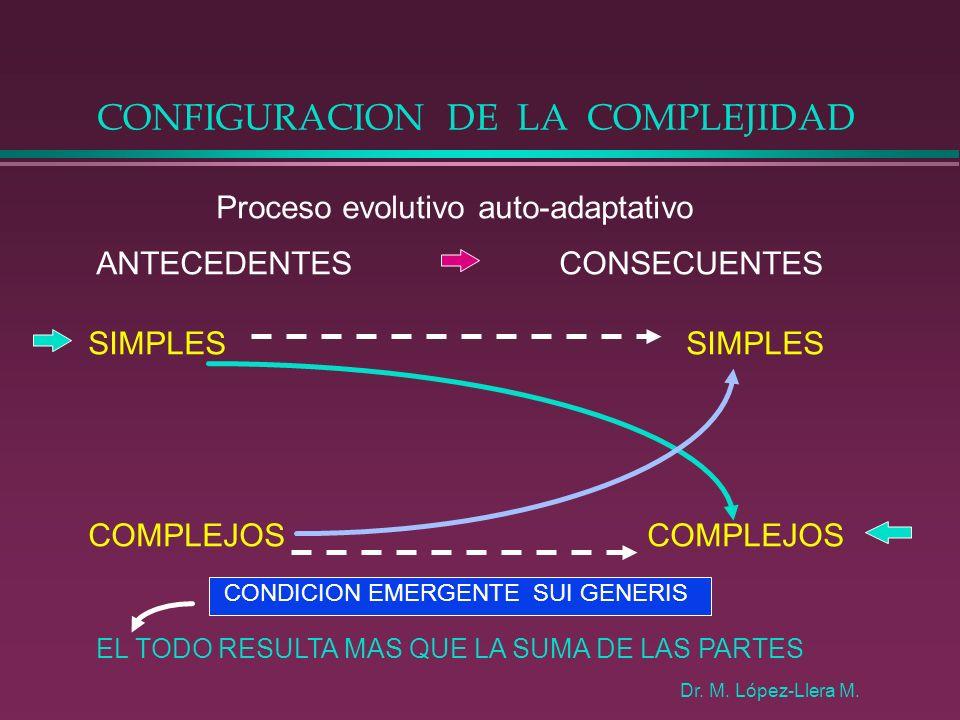 CONFIGURACION DE LA COMPLEJIDAD