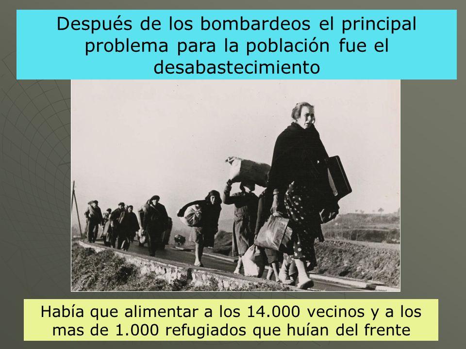 Después de los bombardeos el principal problema para la población fue el desabastecimiento