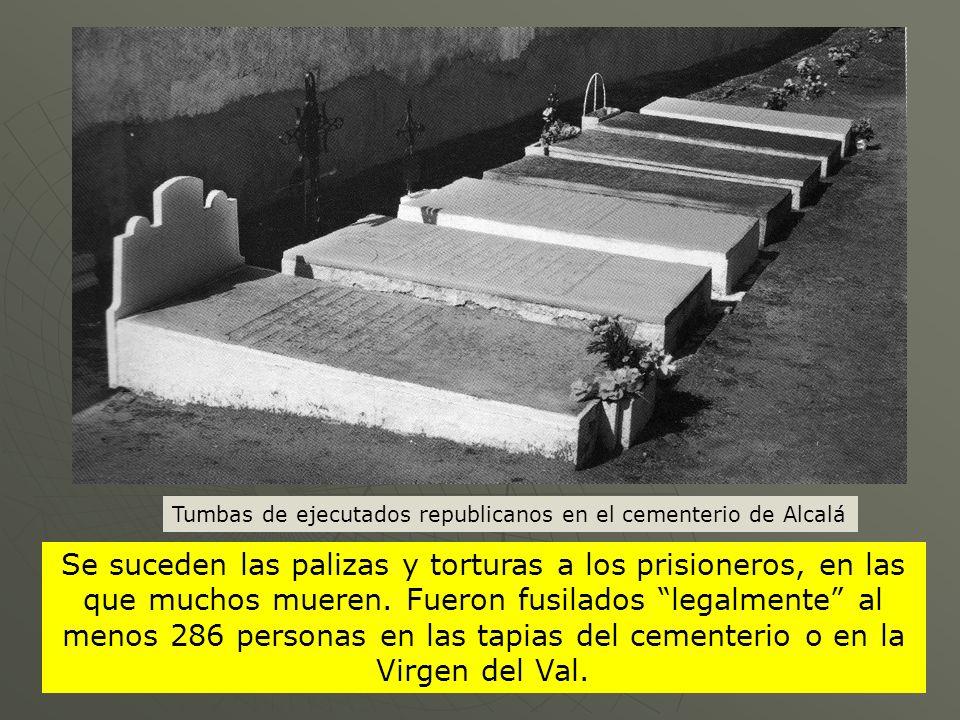 Tumbas de ejecutados republicanos en el cementerio de Alcalá