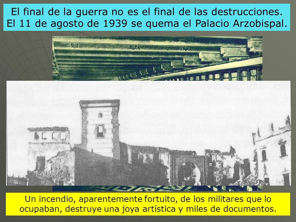 El final de la guerra no es el final de las destrucciones
