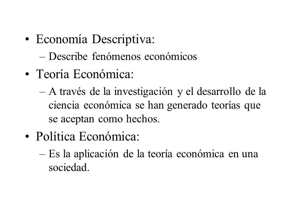 Economía Descriptiva: Teoría Económica: