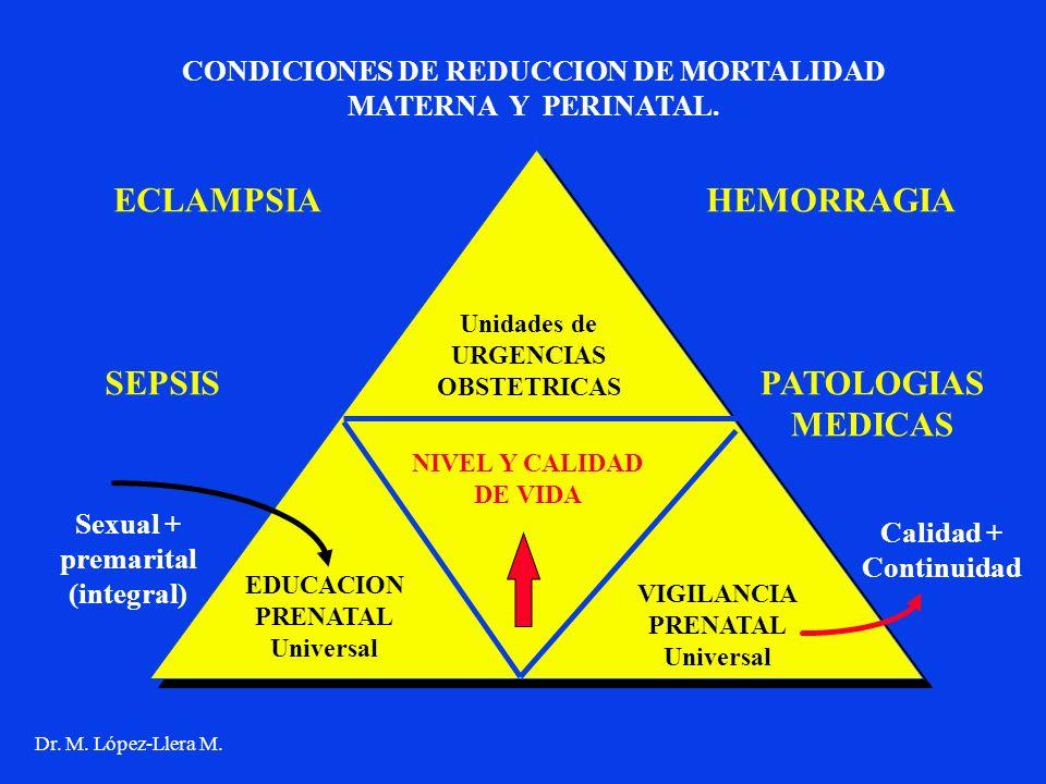 CONDICIONES DE REDUCCION DE MORTALIDAD