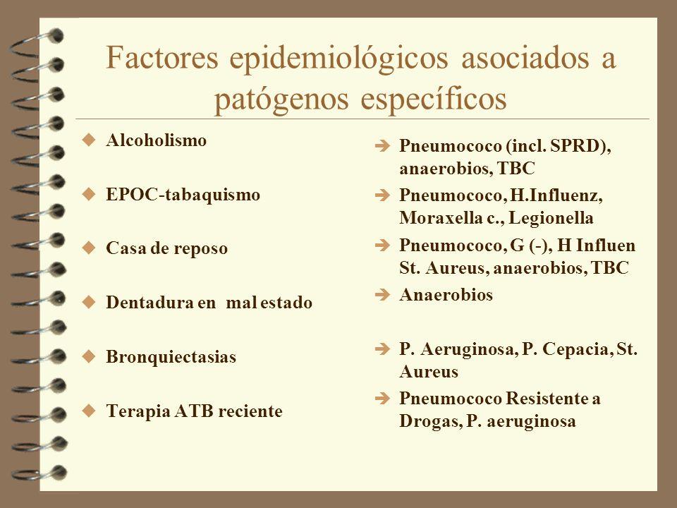 Factores epidemiológicos asociados a patógenos específicos