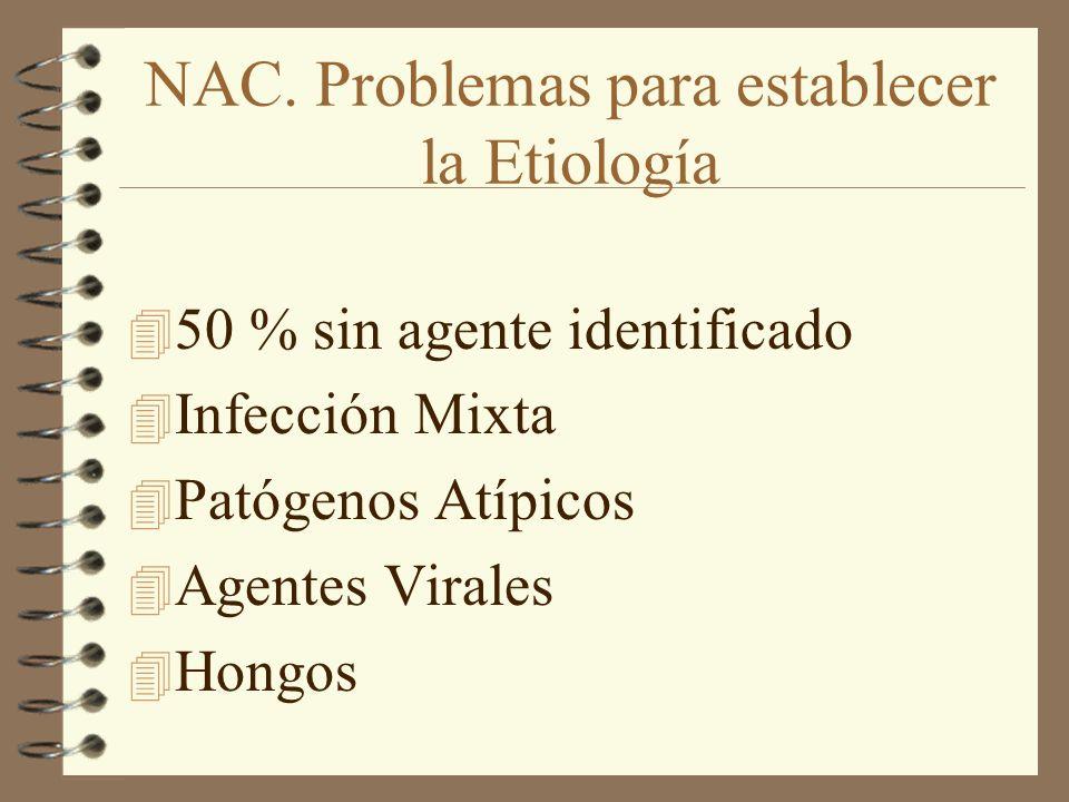 NAC. Problemas para establecer la Etiología