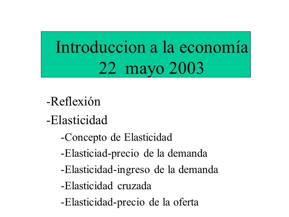 Introduccion a la economía 22 mayo 2003
