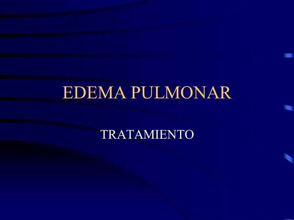 EDEMA PULMONAR TRATAMIENTO