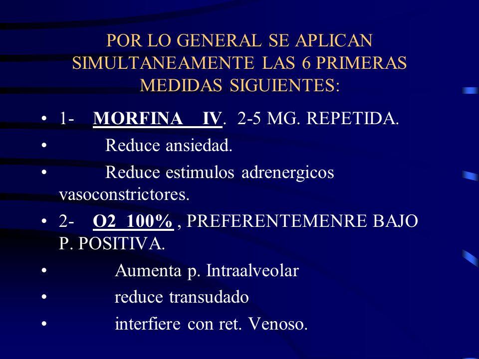 POR LO GENERAL SE APLICAN SIMULTANEAMENTE LAS 6 PRIMERAS MEDIDAS SIGUIENTES: