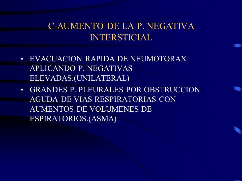 C-AUMENTO DE LA P. NEGATIVA INTERSTICIAL