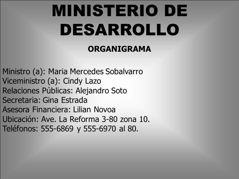 MINISTERIO DE DESARROLLO