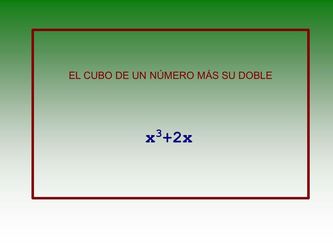 EL CUBO DE UN NÚMERO MÁS SU DOBLE