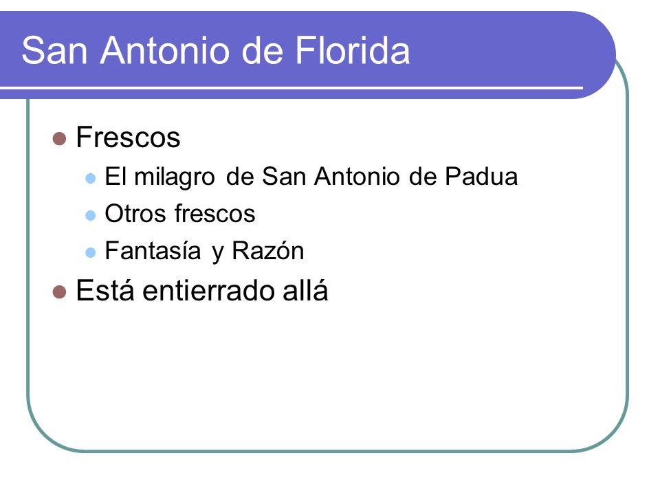 San Antonio de Florida Frescos Está entierrado allá