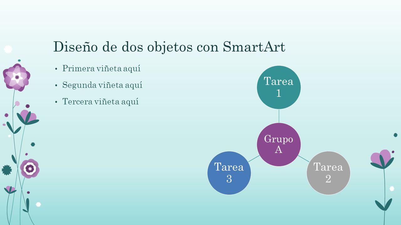 Diseño de dos objetos con SmartArt