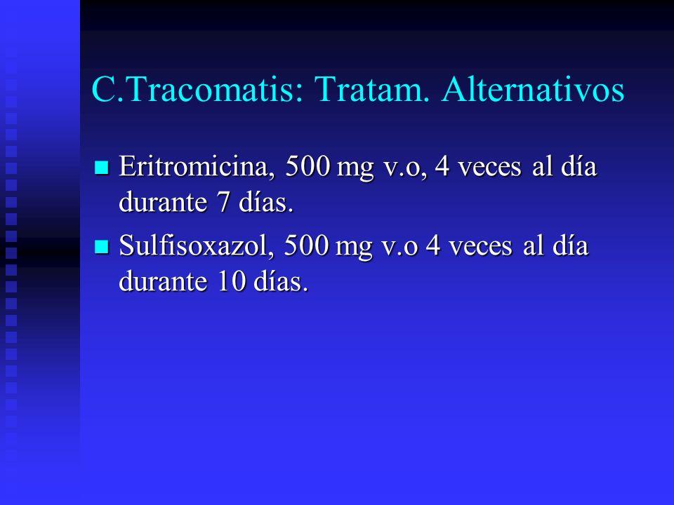 C.Tracomatis: Tratam. Alternativos