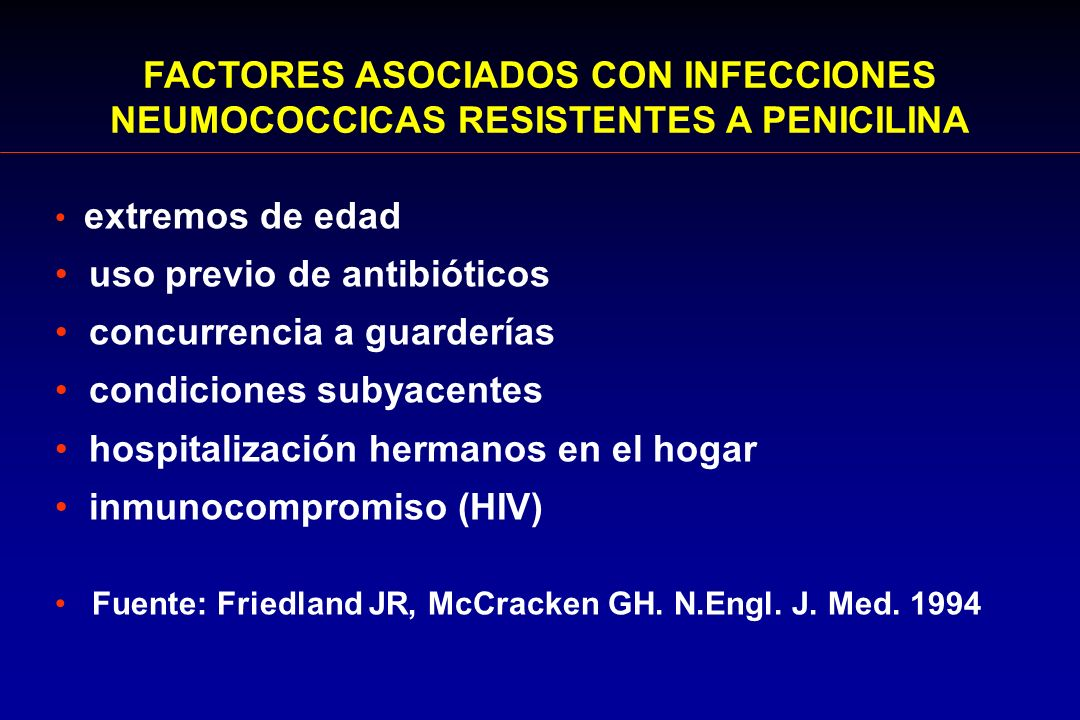 FACTORES ASOCIADOS CON INFECCIONES