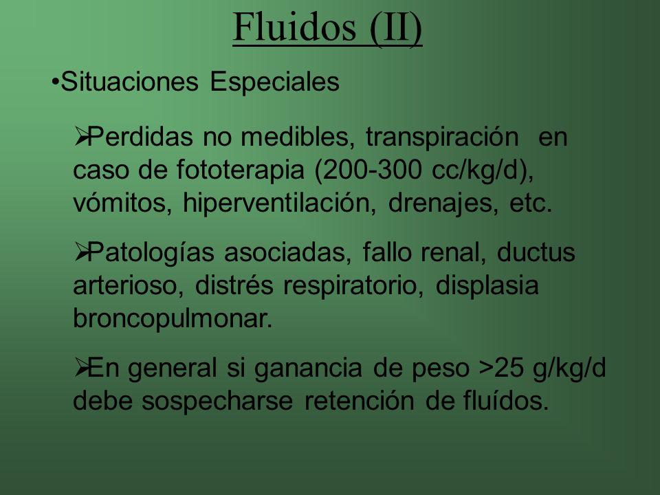 Fluidos (II) Situaciones Especiales