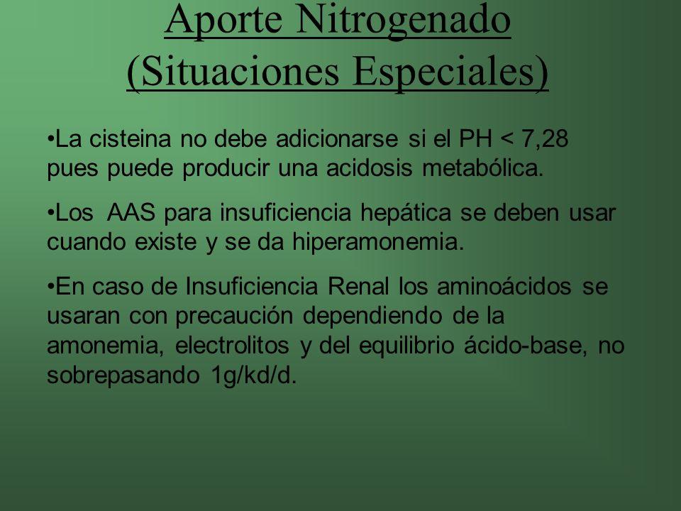 Aporte Nitrogenado (Situaciones Especiales)