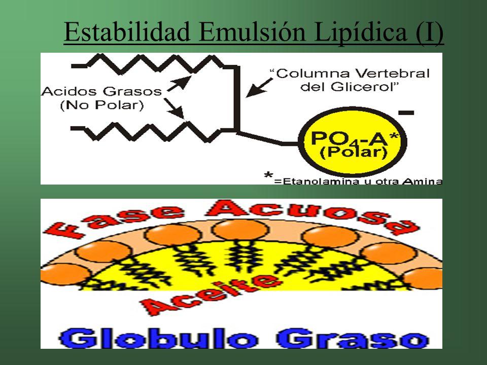 Estabilidad Emulsión Lipídica (I)