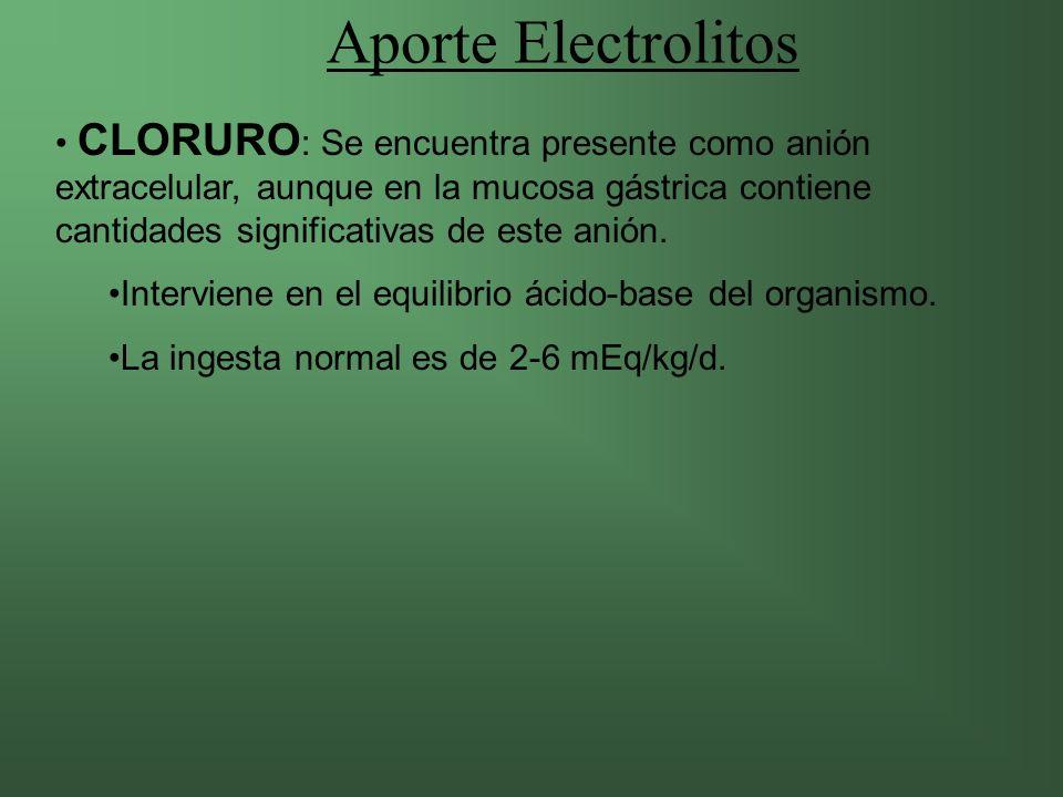 Aporte Electrolitos