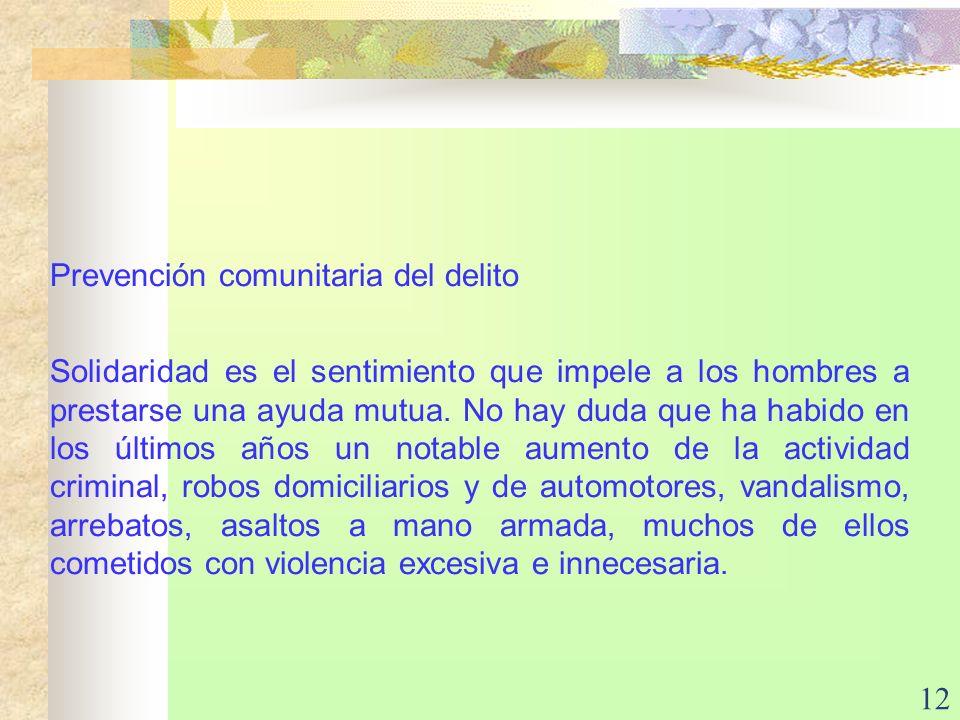 Prevención comunitaria del delito