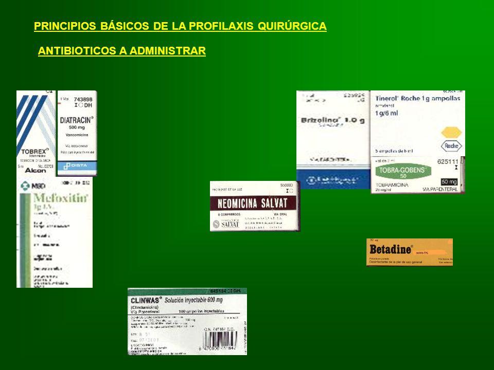 PRINCIPIOS BÁSICOS DE LA PROFILAXIS QUIRÚRGICA