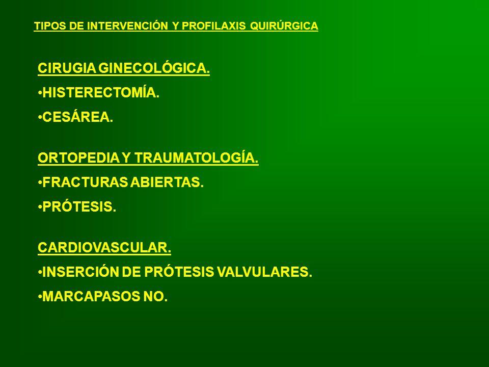ORTOPEDIA Y TRAUMATOLOGÍA. FRACTURAS ABIERTAS. PRÓTESIS.