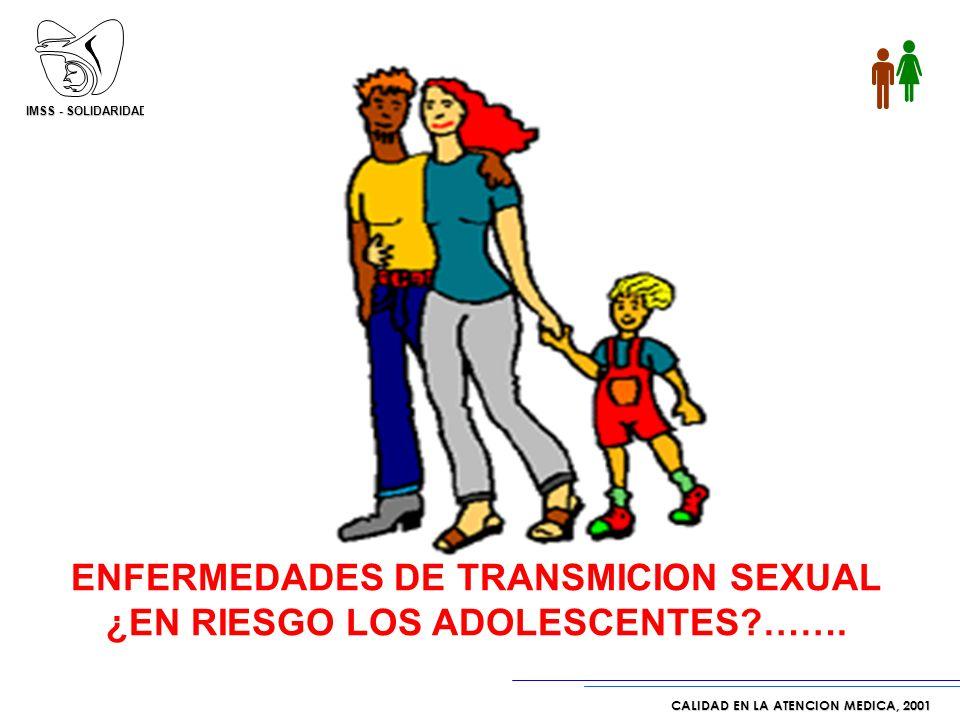 ENFERMEDADES DE TRANSMICION SEXUAL ¿EN RIESGO LOS ADOLESCENTES …….