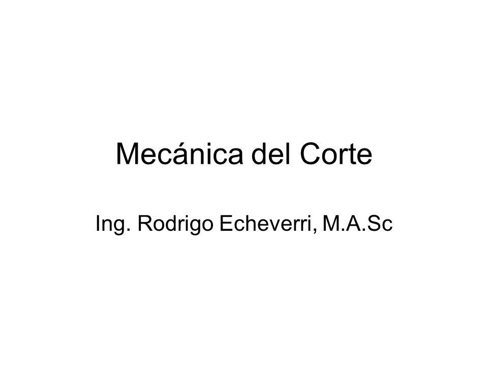 Ing. Rodrigo Echeverri, M.A.Sc