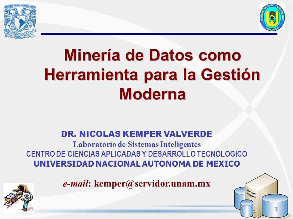 Minería de Datos como Herramienta para la Gestión Moderna