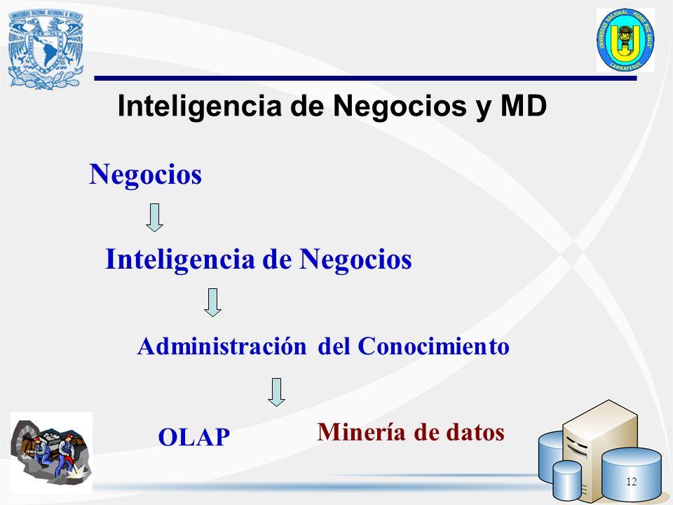 Inteligencia de Negocios y MD