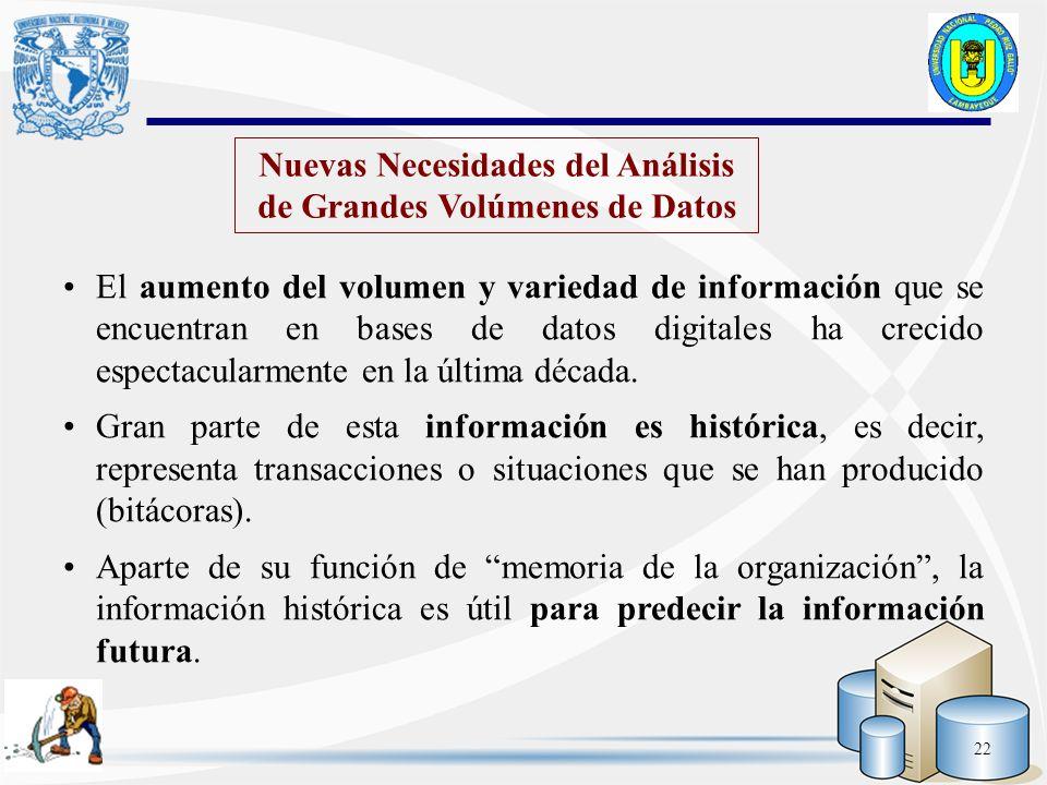 Nuevas Necesidades del Análisis de Grandes Volúmenes de Datos