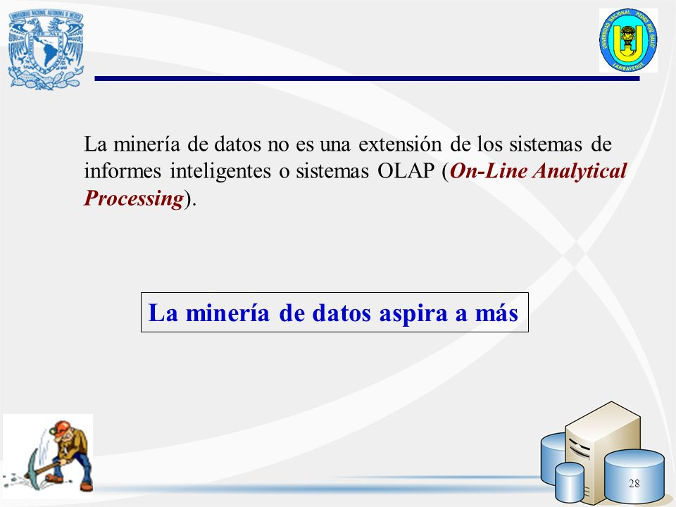 La minería de datos aspira a más