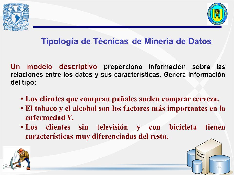 Tipología de Técnicas de Minería de Datos