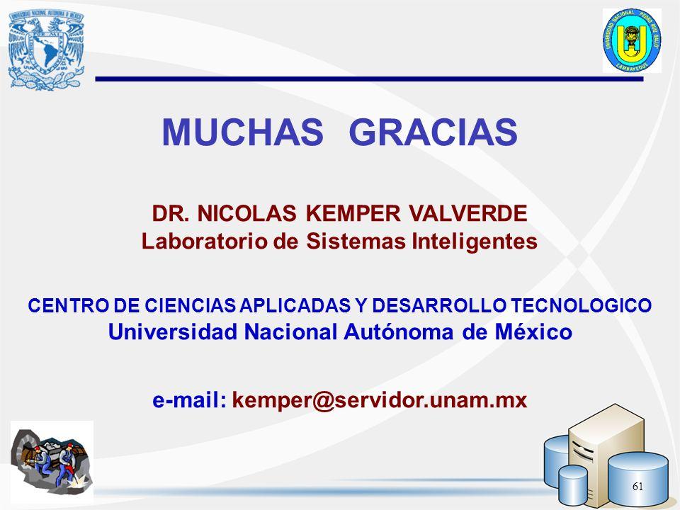 MUCHAS GRACIAS DR. NICOLAS KEMPER VALVERDE