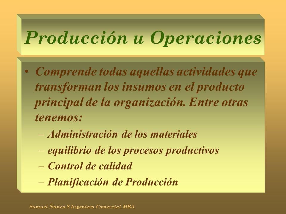 Producción u Operaciones