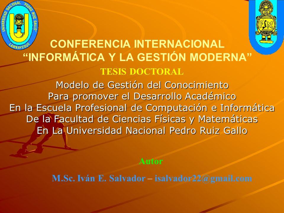 CONFERENCIA INTERNACIONAL INFORMÁTICA Y LA GESTIÓN MODERNA