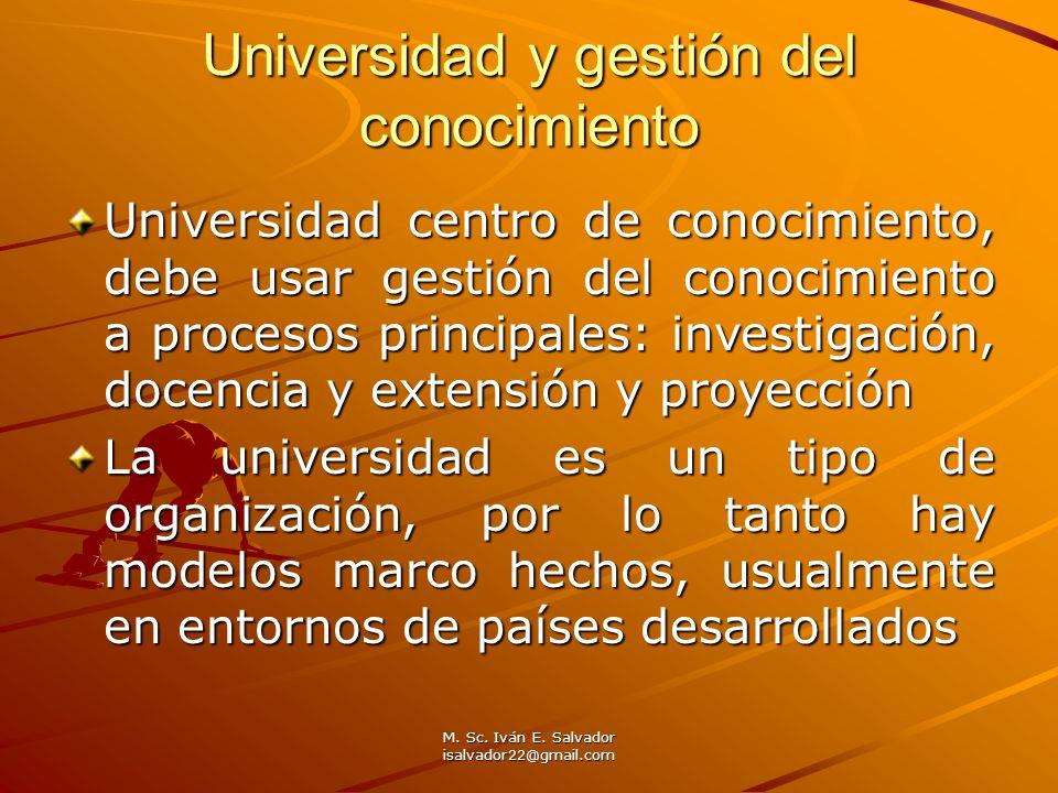 Universidad y gestión del conocimiento
