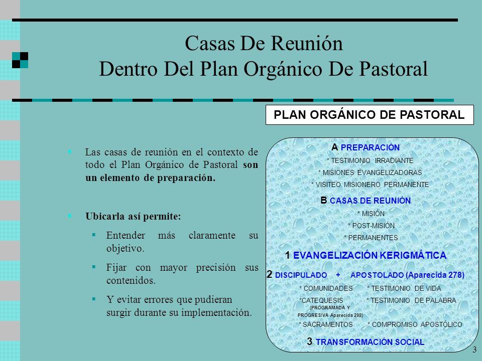 Casas De Reunión Dentro Del Plan Orgánico De Pastoral