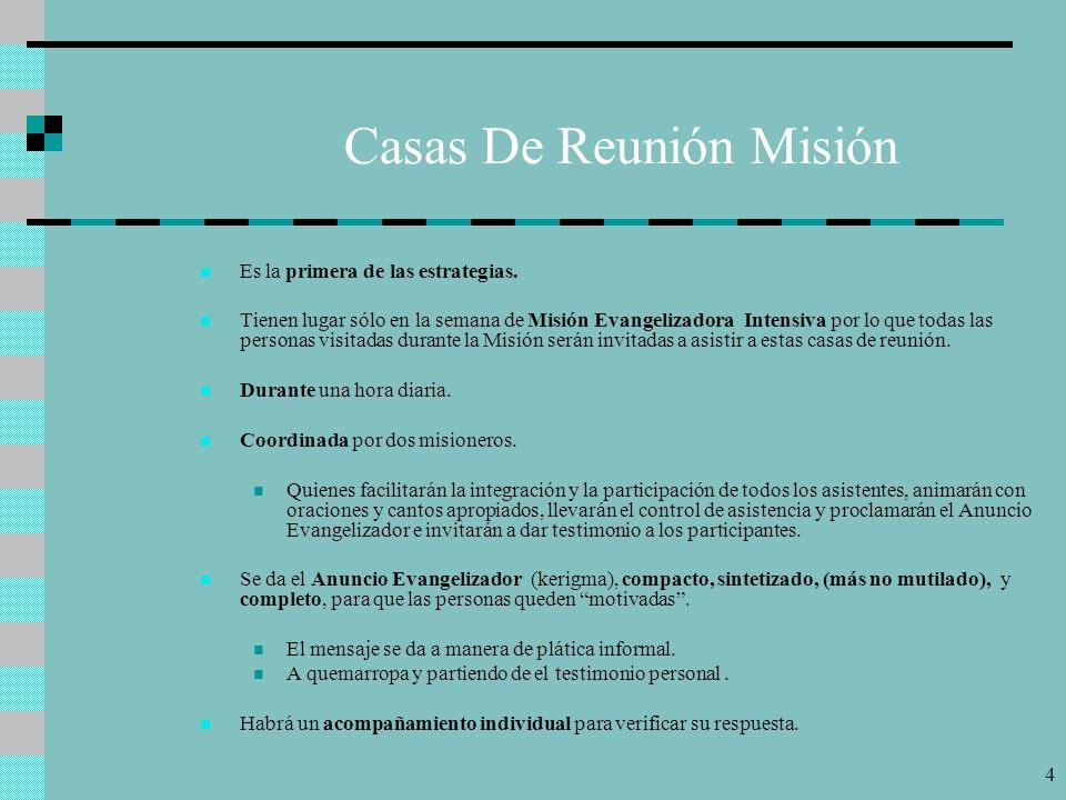 Casas De Reunión Misión