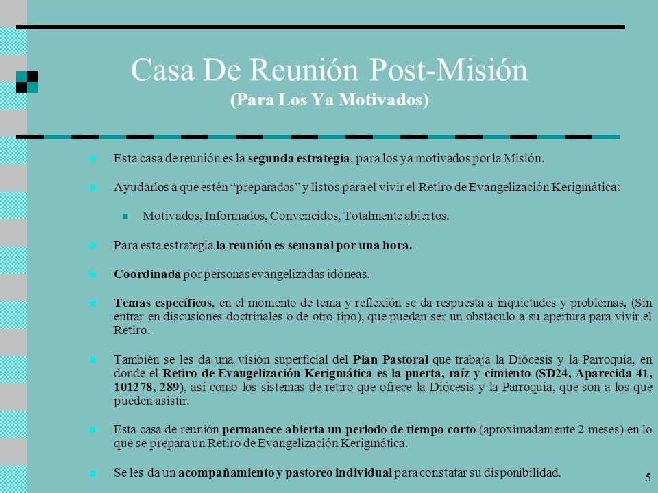 Casa De Reunión Post-Misión (Para Los Ya Motivados)